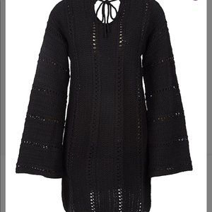 Knitted Black Tunic 3xl